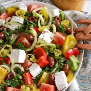 Spiralized Greek Style Salad