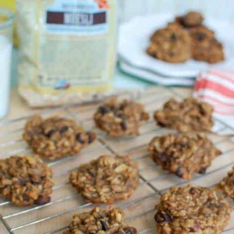Banana Muesli Breakfast Cookies