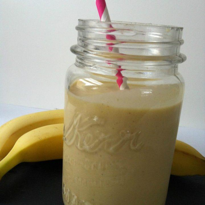 Mango Banana Oatmeal Breakfast Smoothie