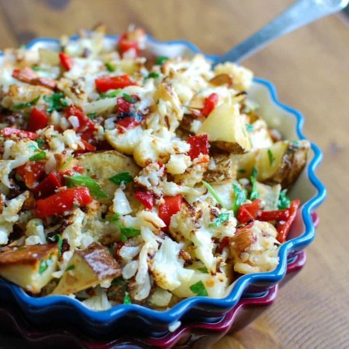 Cauliflower Pepper Potato Salad