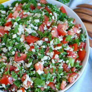 Cauliflower Tabbouleh in a bowl