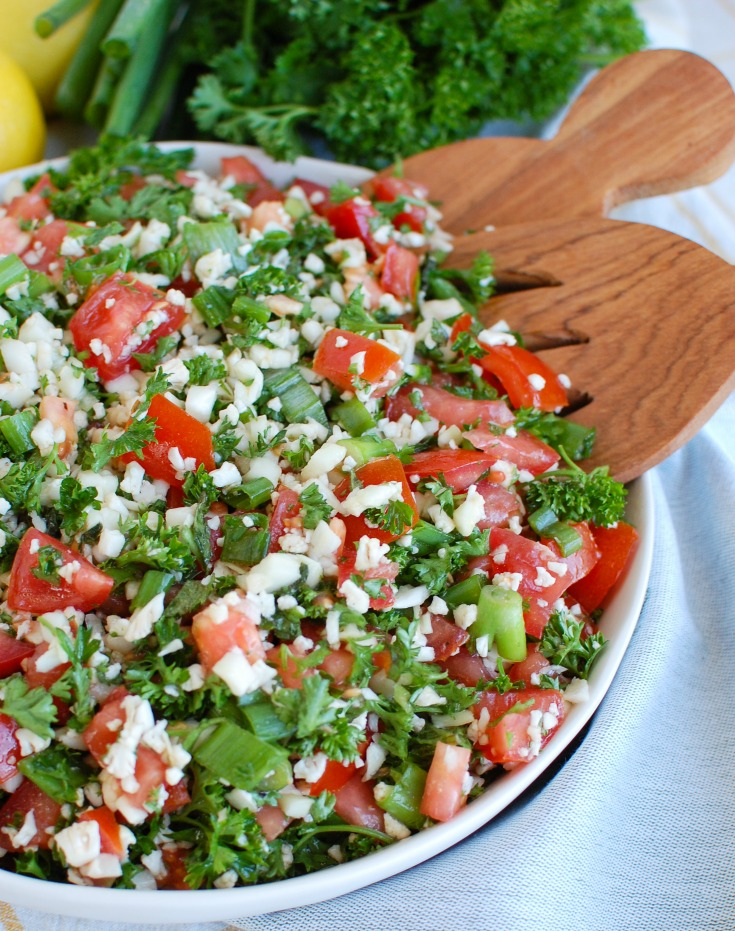 Cauliflower Tabbouleh Serving Spoons
