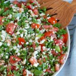 Cauliflower Tabbouleh White Bowl