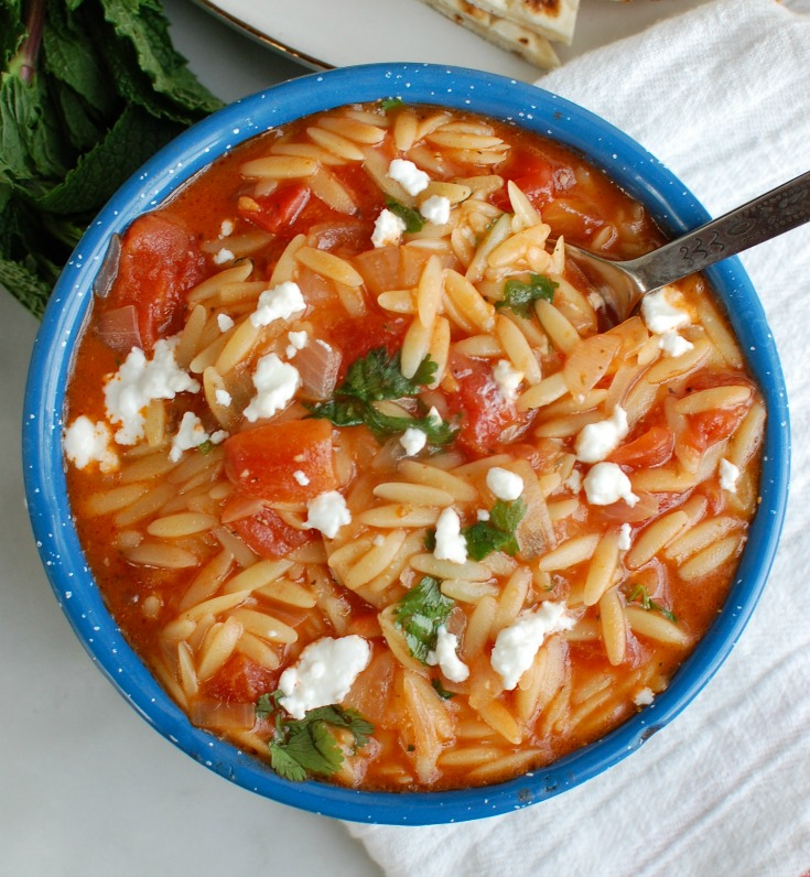 One Pot Creamy Tomato Herb Orzo Above