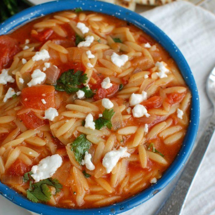 One Pot Creamy Tomato Herb Orzo