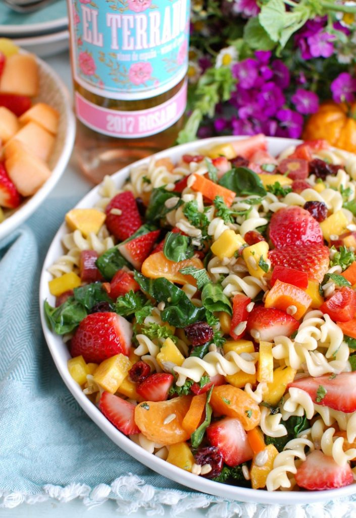 Spring Pasta Salad with Rose Wine