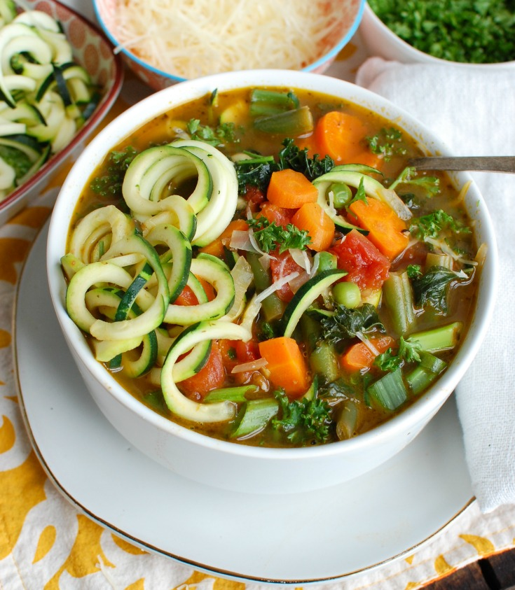 Spring Vegetable Minestrone Image Far View
