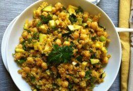Zucchini Chickpea Quinoa Salad