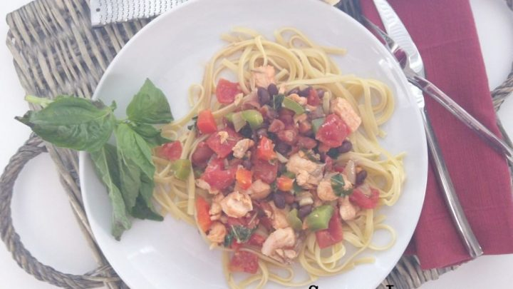 Salmon Linguine {Mom's Cooking Series}