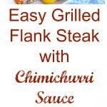 Easy Grilled Flank Steak with Chimichurri Sauce Collage
