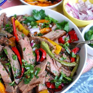 Easy Grilled Flank Steak with Chimichurri Sauce