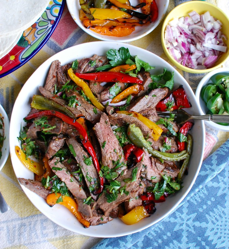 Easy Grilled Flank Steak with Chimichurri Sauce Small Bowl