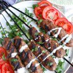 Grilled Beef Kafta Kebabs