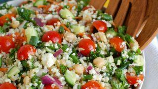 Mediterranean Chickpea Cauliflower Salad