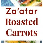 Za'atar Roasted Carrots collage
