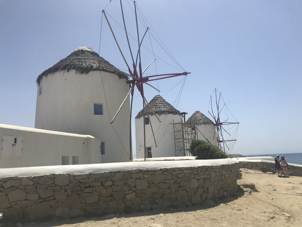 Windmill in Mykonos three