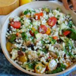 Mediterranean Grilled Vegetable Couscous Salad Side Dish