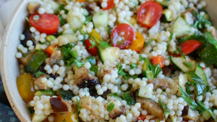 Mediterranean Grilled Vegetable Couscous Salad Side Dish