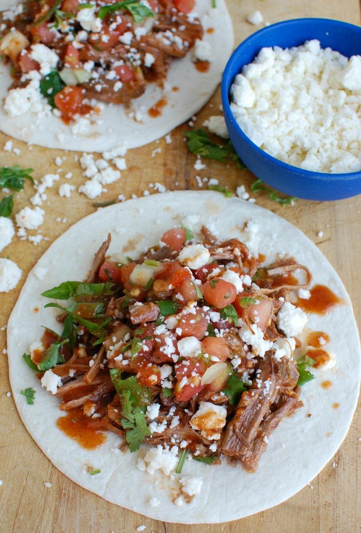 Slow Cooker Mexican Beef Brisket Taco