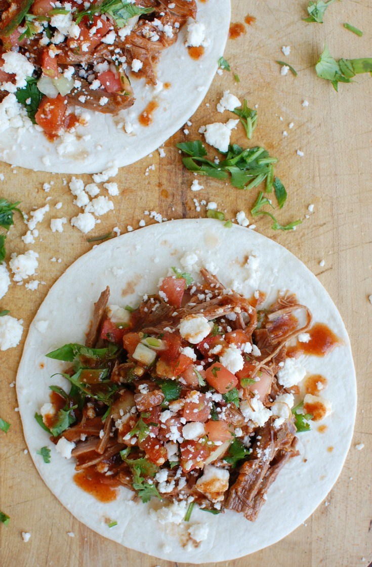 Slow Cooker Mexican Beef Brisket Two Tacos