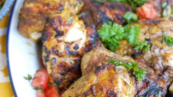 3 Easy Chicken Marinades White Plate