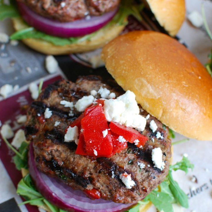 Easy Mediterranean Burgers Above