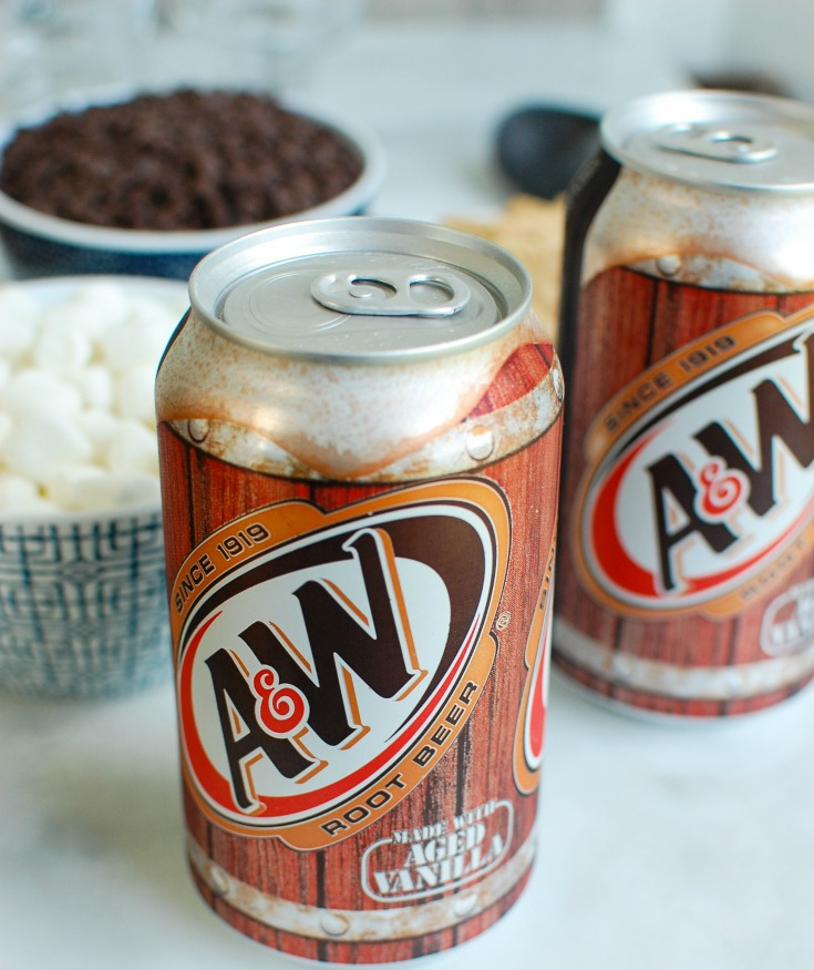 S'more A&W Root Beer Floats Ingredients
