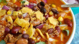 Instant Pot Beef Taco Soup