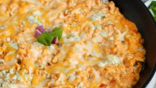 Buffalo Queso Cheese Chicken Dip
