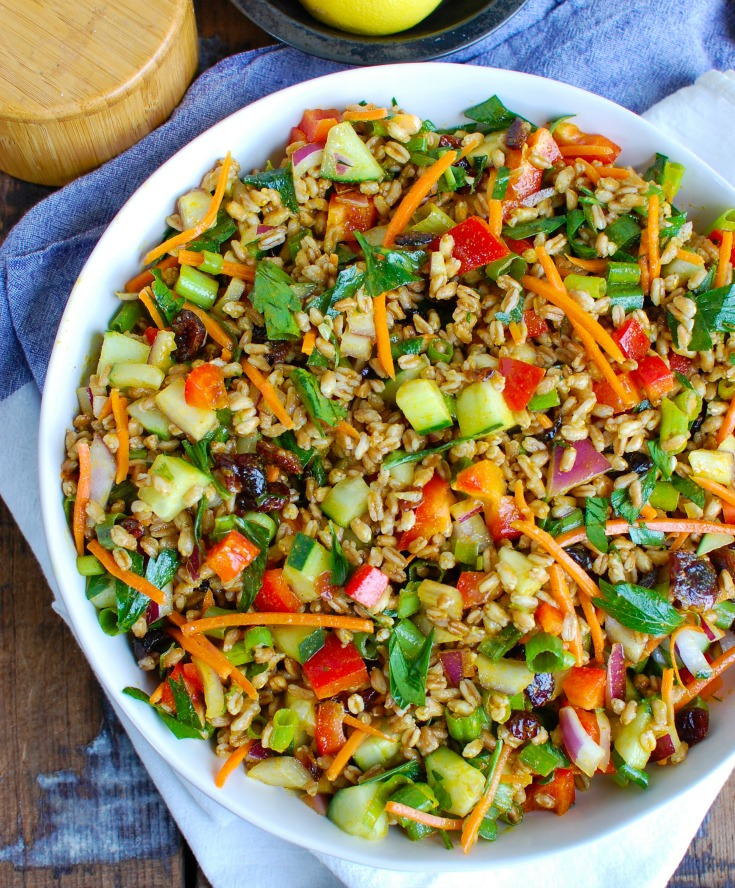 Easy Farro Summer Salad Above