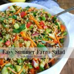 Easy Summer Farro Salad Text