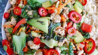 Spicy Thai Basil Chicken Stir-Fry