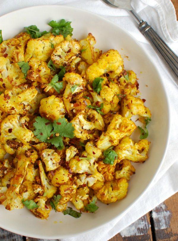 Turmeric Roasted Cauliflower Crispy