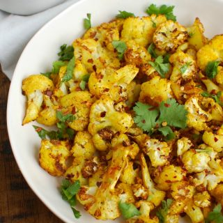 Turmeric Roasted Cauliflower White Dish