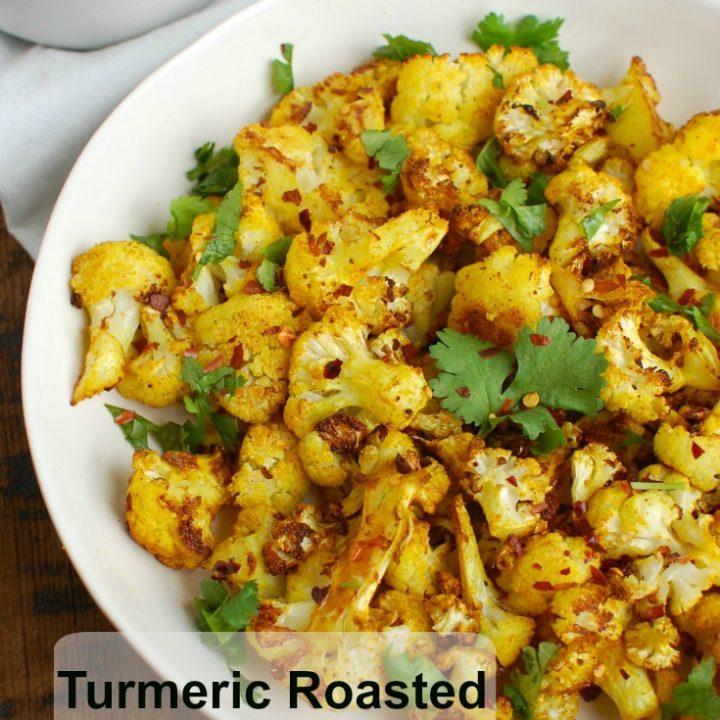 Turmeric Roasted Cauliflower above view