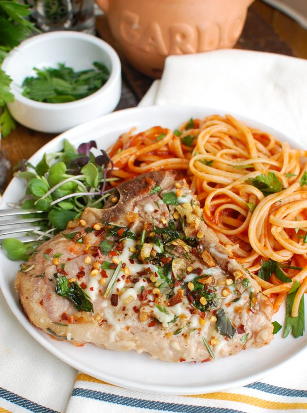 Easy Italian Style Veal Chops with Tomato Sauce