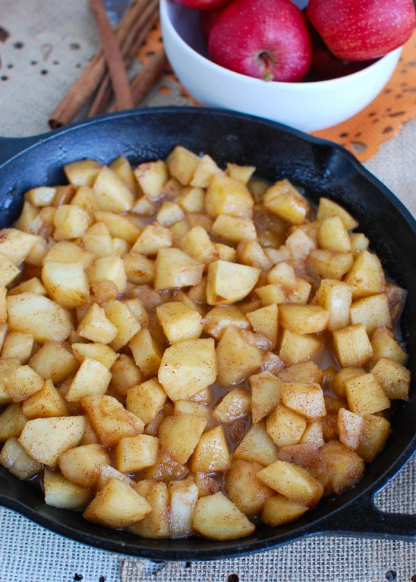 Easy Skillet Apples Side View