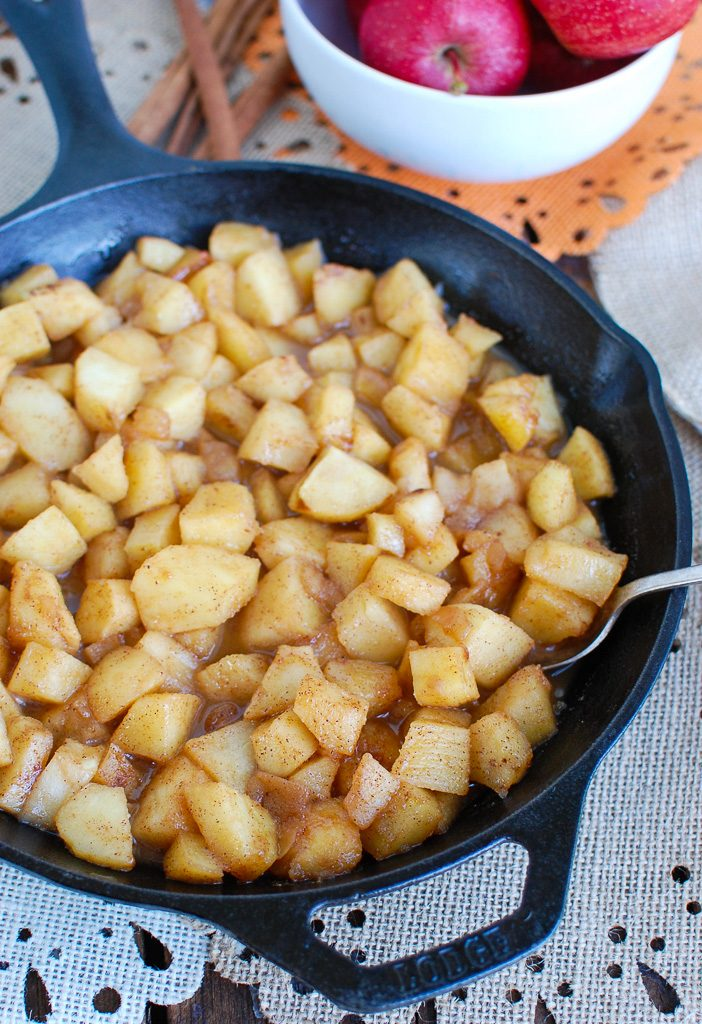 Easy Skillet Apples in Skillet