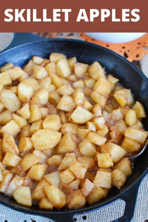 Easy Skillet Apples with logo