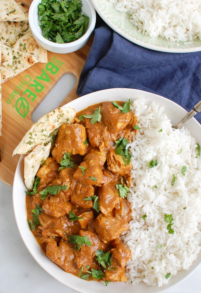 Slow Cooker Butter Chicken Above