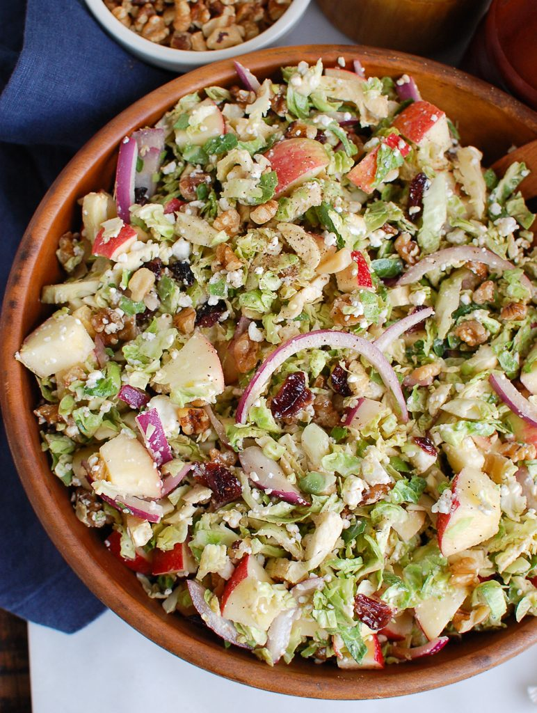 Brussels Sprout Apple Goat Cheese Salad Half Bowl