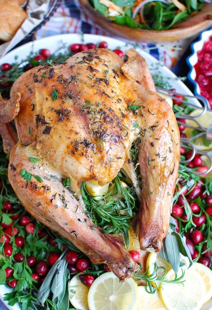 Herb Butter Roasted Turkey Above