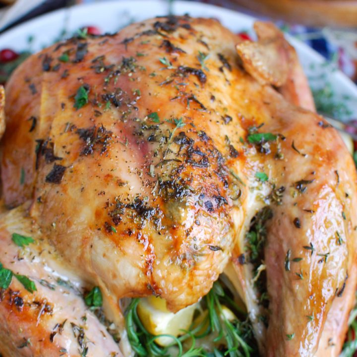 Herb Butter Roasted Turkey for Thanksgiving