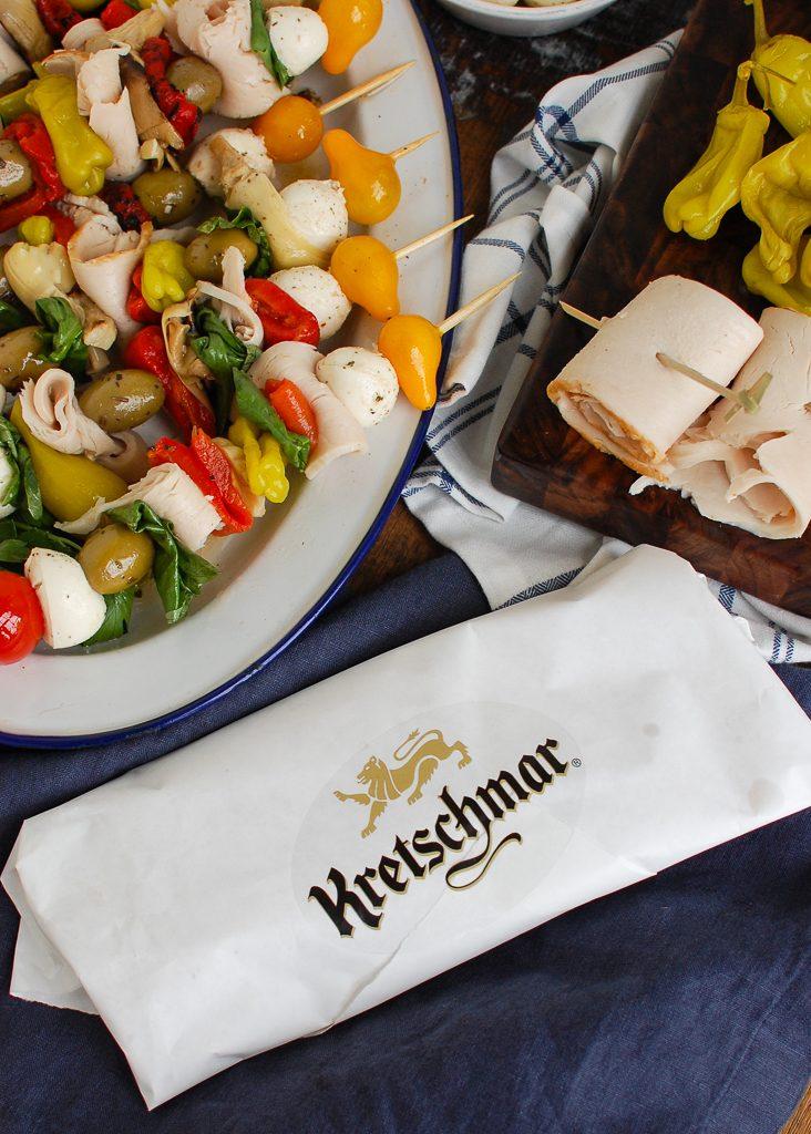 Mediterranean Antipasto Skewers Deli Meat