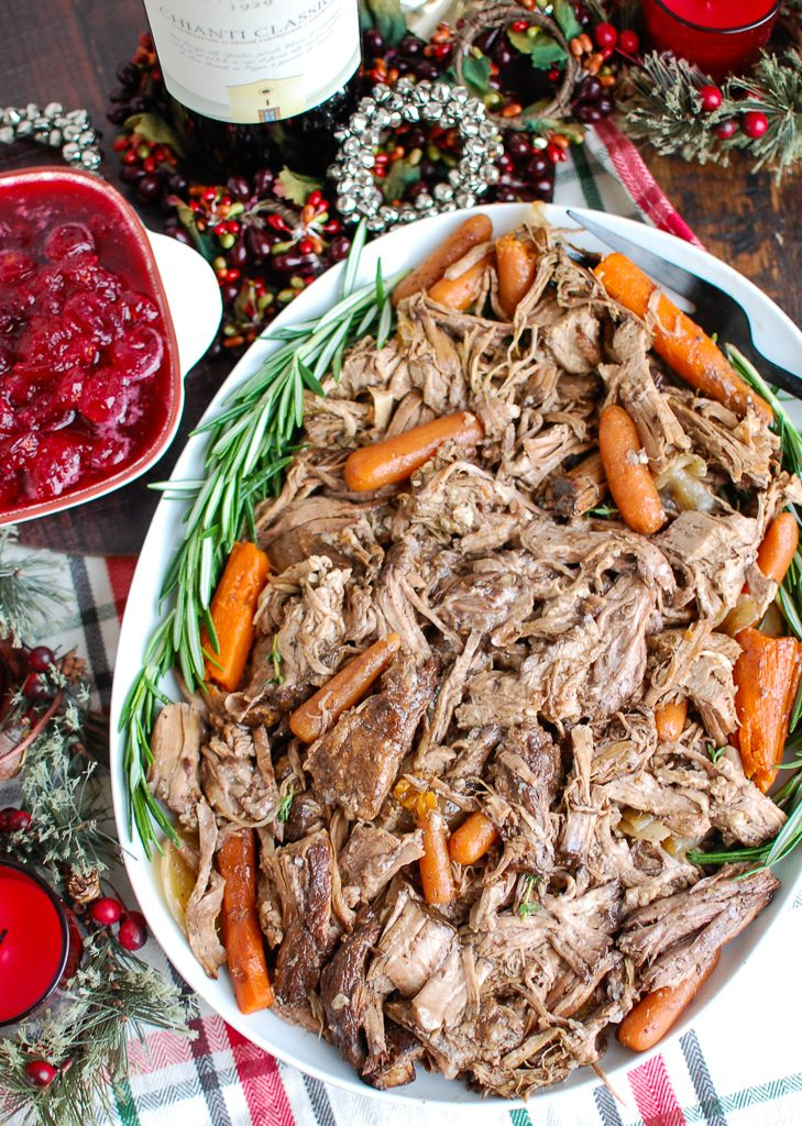 Slow Cooker Balsamic Pot Roast Above