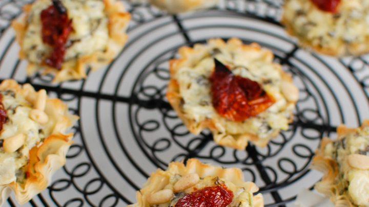 Spinach Artichoke Sun-dried Tomato Phyllo Bites