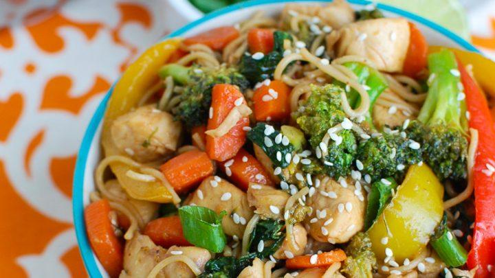 Easy Chicken Ramen Noodle Stir Fry