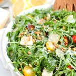 Lemon Arugula Salad with Pine Nuts