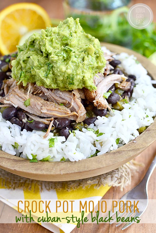 Crock Pot Mojo Pork with Cuban-Style Black Beans (Video)