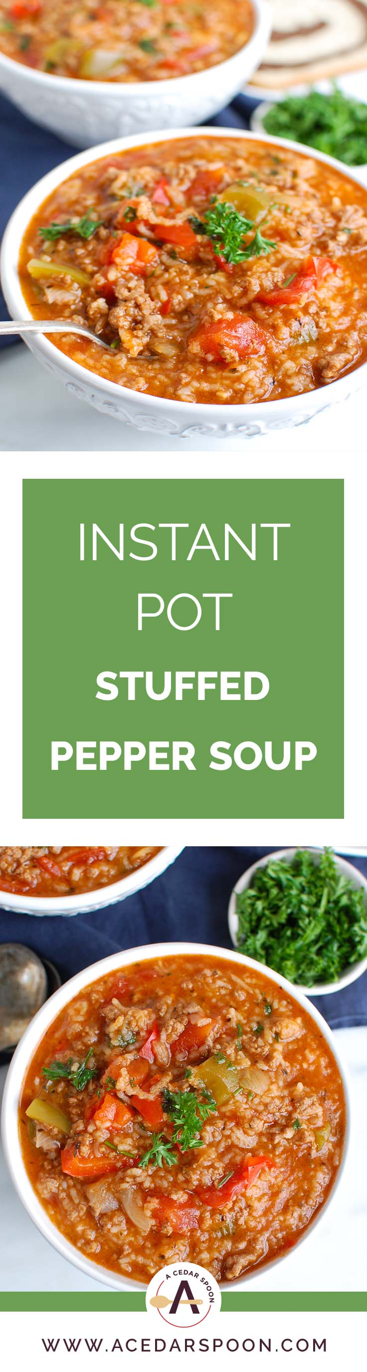 Instant Pot Stuffed Pepper Collage